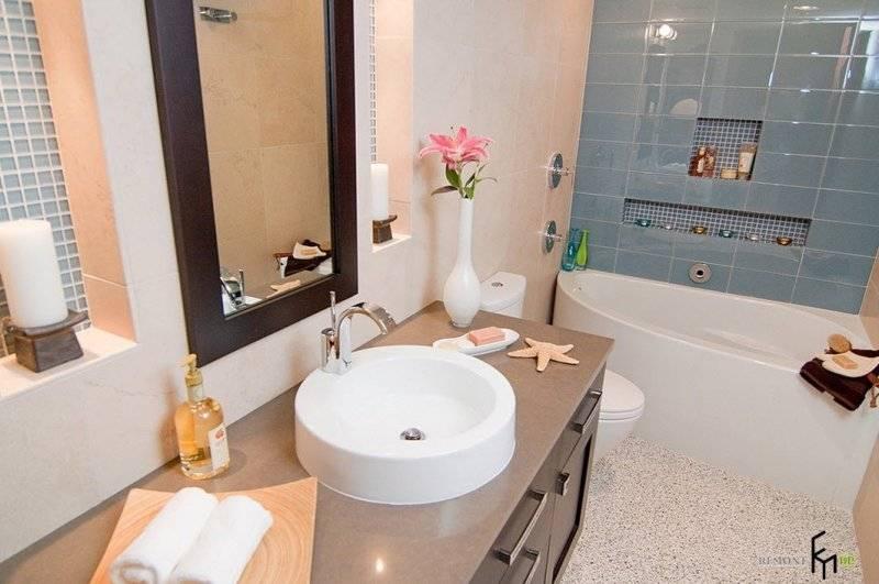 Дизайн маленькой ванной комнаты: красивые, модные и современные интерьеры со стиральной машиной  - 20 фото