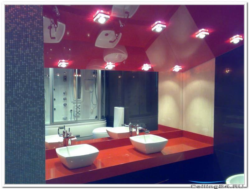 Какой натяжной потолок в ванной лучше сделать – виды, особенности, правила выбора