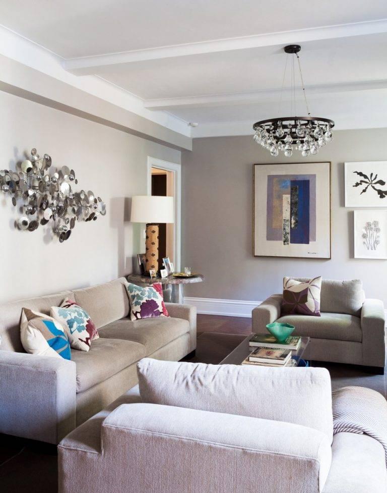 Правильное использование светлых тонов в гостиной