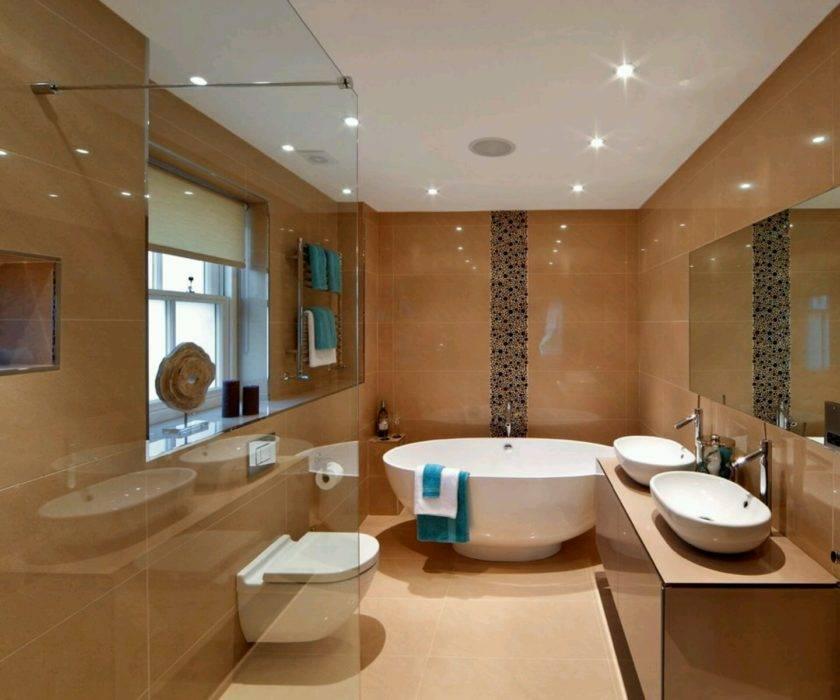 Дизайн натяжного потолка в ванной комнате
