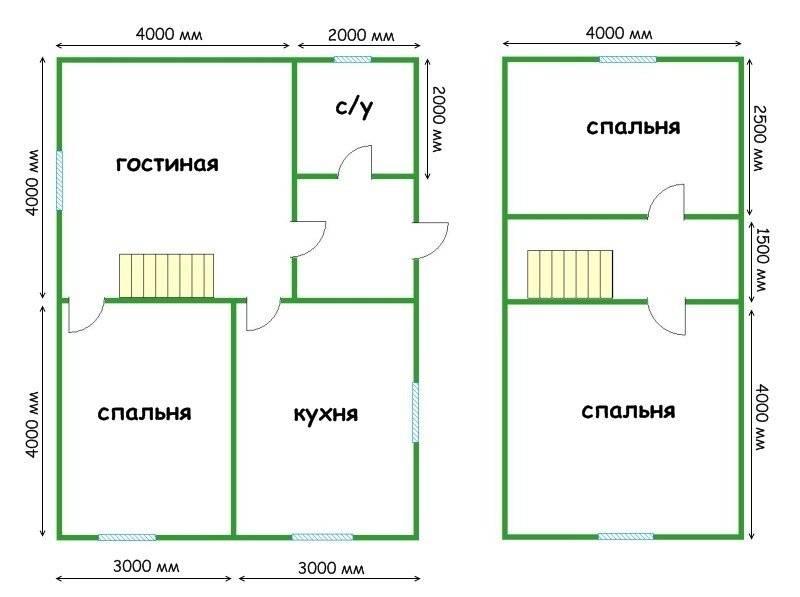 Дом 6 на 8 - варианты уютного и стильного дизайна. 100 фото проектов частных домов