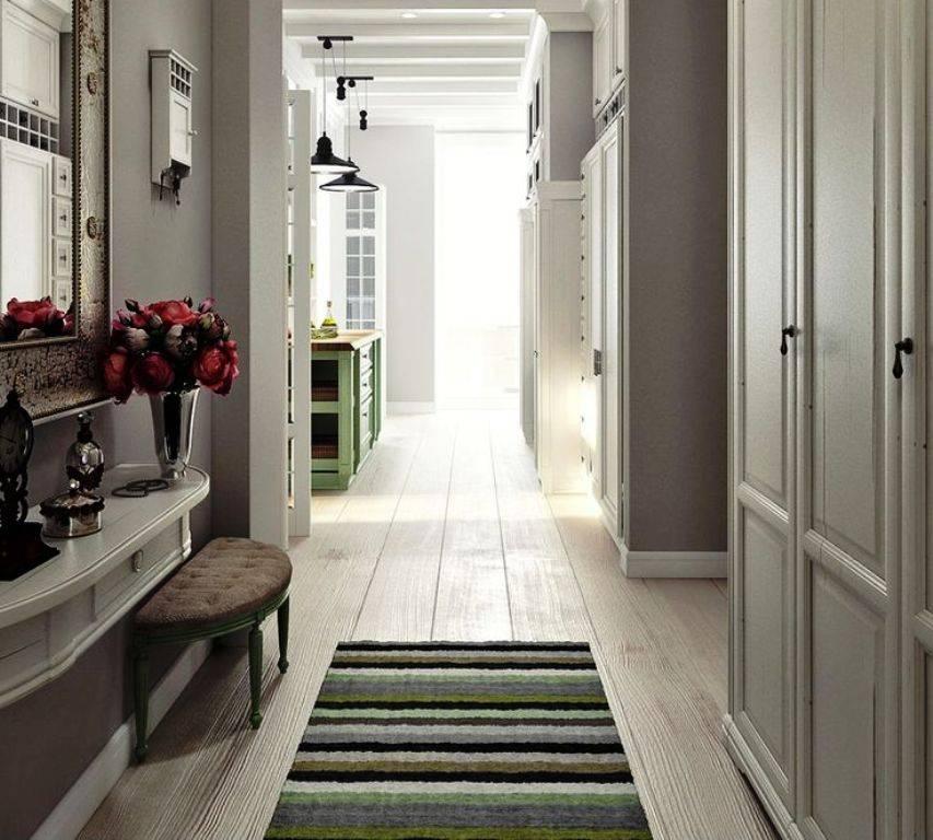 Дизайн длинного коридора (90 фото): интересные идеи интерьера прихожей в трехкомнатной квартире и других, необычные дизайнерские решения по мебели
