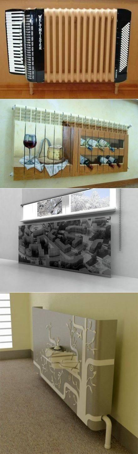 Декор батареи отопления своими руками +50 фото примеров