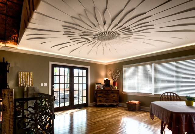 Узоры и рисунки для потолка из гипсокартона: 65+ готовых вариантов и стильные идеи декора своими руками