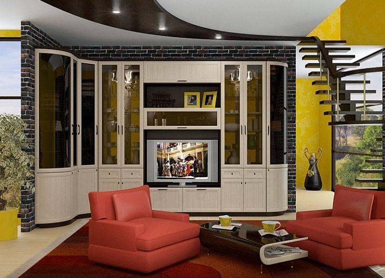 Стенка в гостиную: 80 фото и советы по расширению функционала