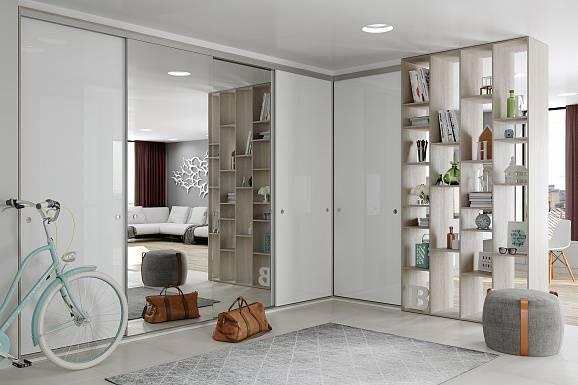 Встроенный шкаф в прихожую: 100 фото лучших решений в интерьере