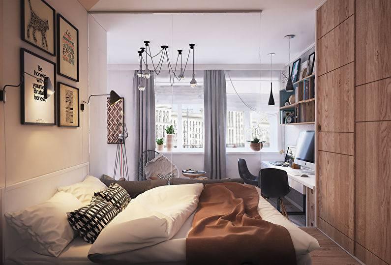 Дизайн 1-комнатной квартиры 30-35 кв. м. в панельном доме. 12 фото ремонта