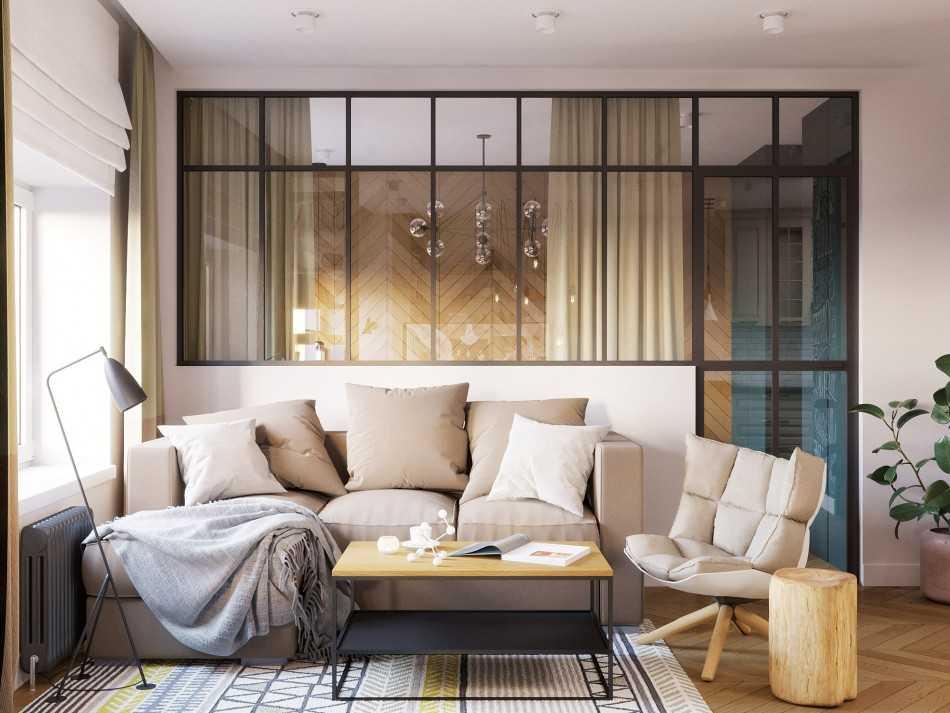 Спальня – гостиная в интерьере современной квартиры