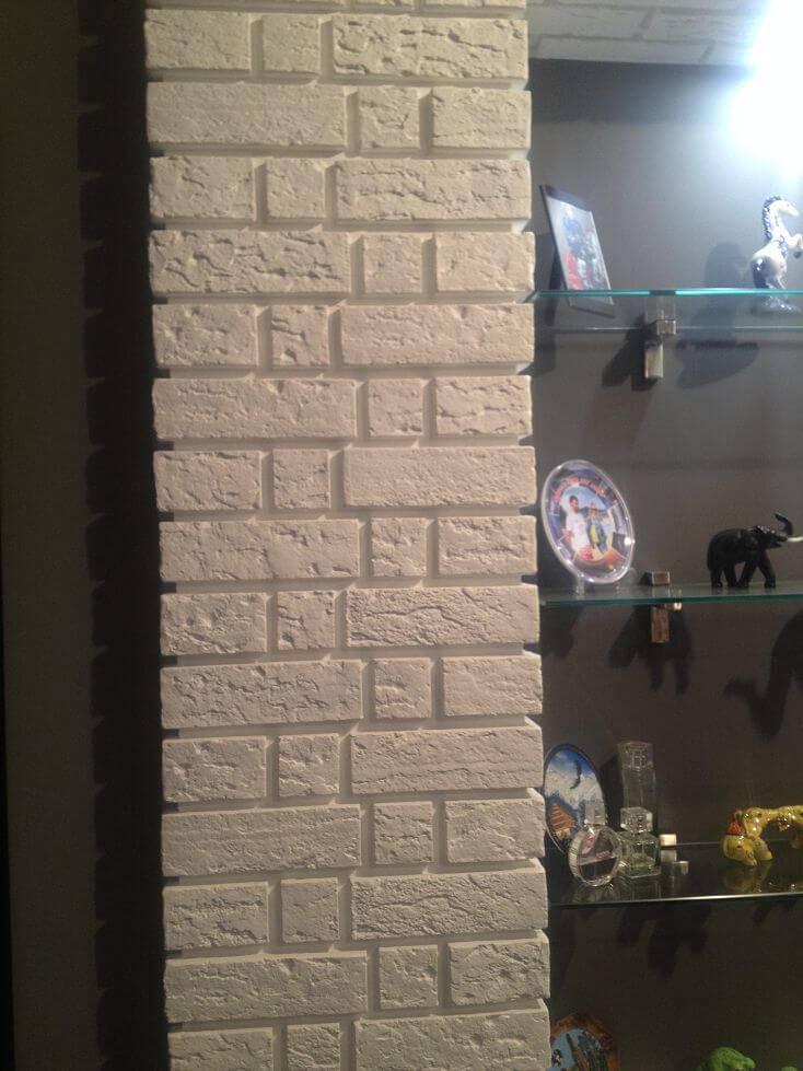 Декоративный кирпич для внутренней отделки +75 фото