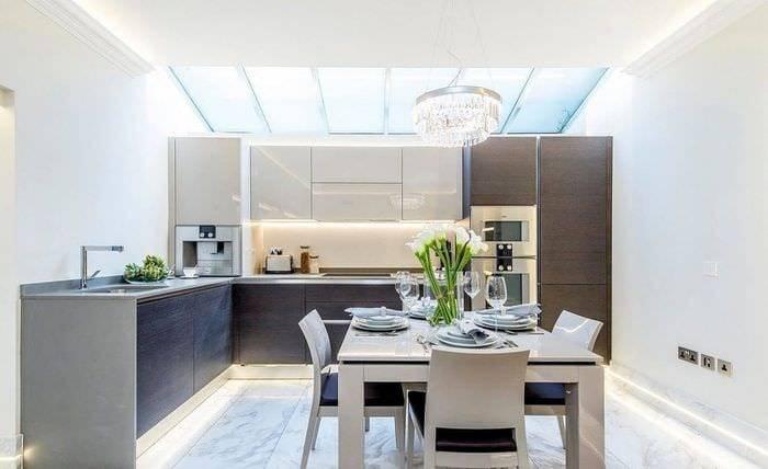 Кухня цвета венге - топ-140 фото-обзоров вариантов оформления и декора кухни. стильные комбинации цветов в интерьере